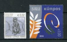 Cyprus 2016 2017 European Council Chair Refugee 1974 2v Set Politics Stamps