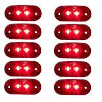 10x 24V Rot Begrenzungsleuchte 2 LED Umrissleuchte E-Prüf Positionsleuchte