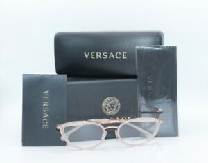 Versace MOD. 1258 1442 52.19 140 Rose Gold Cat eye White Women's Frames