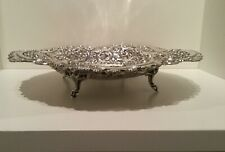 Victorian Solid Sterling Silver Footed Bowl Dish Comport Sheffield 1896