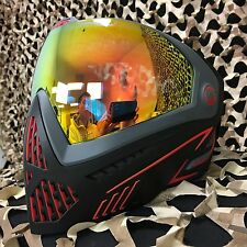 NEW Dye i5 Thermal Paintball Mask Goggle - Fire (Black/Red)