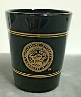 Kansas State University Shot Glass Blue Glass w/ Gold Trims EUC #719C