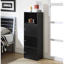 Drawer Dresser Chest & 3 Shelf Black Organizer Standard Sturdy Construction