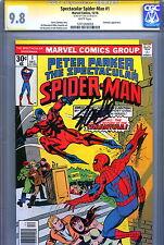 CGC SS 9.8 Signed Stan Lee Spectacular Spiderman #1 Sal Buscema John Romita Art