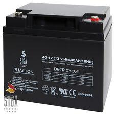 Blei Akku 12V 40Ah AGM Gel Batterie DEEP CYCLE Elektromobil Boot Battery 45Ah