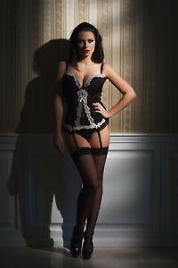 Eleganti 15 Denier Point Heel Fully Fashioned Nylon Stockings Imperfects