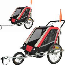 Convertible Jogger Remorque à Vélo 2 en 1 Velo, pour 2 enfants avec Suspension