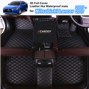 3D Black Customized Waterproof Car Floor Mats for Mitsubishi Lancer 2007 - 2017