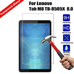 Tempered Glass For Lenovo Tab M8 HD 2019 (2nd Gen) Tablet Screen Protector Cover