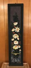 "Fred Thrasher Canvas Painting Frame Flowers Hand Signed 11 X 49"" ONE OF A KIND"
