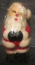 Vtg Old World Santa Christmas Candle Robert Alan Dead Stock Hand Painted 1980s