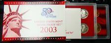 2003-S US Mint Silver Proof Set Box & CoA - b