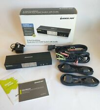 IOGear Dual-View Dual-Link DVI KVMP Switch GCS1642 w/ AC Adapter