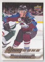 15-16 Upper Deck Mikko Rantanen UD Canvas Young Guns Rookie Avalanche 2015