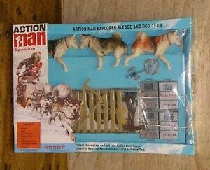 VINTAGE ACTION MAN 40th CARDED/BOXED EXPLORER SLEDGE AND DOG TEAM 1/6 SCALE