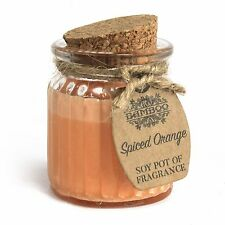 Soy Pot of Fragrance Glass Jar Candle 14 Fragrances to Choose UK SELLER 1 Spiced Orange
