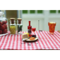 1:12 Miniature model dollhouse accessories mini cake wine dis №[