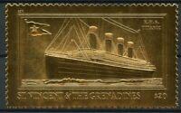 St Vincent & The Grenadines 1998 MNH Titanic 1v Gold Stamp Ships Boats Stamps