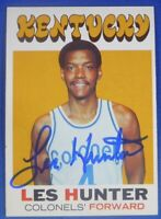 LES HUNTER autographed signed 1971-72 Topps ABA Kentucky Colonels