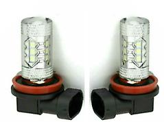 H11 LED Super White Headlight Front Fog Light Lamp Bulbs Pair (Set)