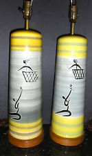 Vintage mid century Itlian pottery Lamps lamps ,, Londo?Raymor Bitossi