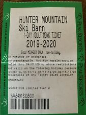 Hunter Mountain NY Lift Tickets 2020