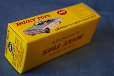 Dinky 449 chevrolet el camino pick-up vide repro uniquement pour la boîte