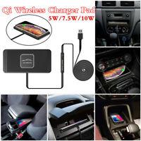 iPhone X R Samsung Car Dashboard Qi Wireless Charger Phone Holder Non-slip Pad