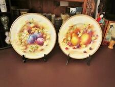 Early/Mid 20th c Fenton China Display Plates - Transfer Ware Fruits by D.Wallace
