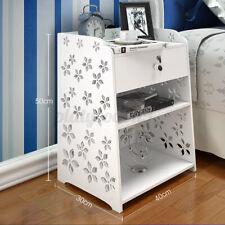Modern Bedside Table Rack Bedroom Nightstand Cabinet Storage Organizer Drawer