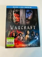 Warcraft w/ Slipcover (Bluray/DVD, 2016) [BUY 2 GET 1]