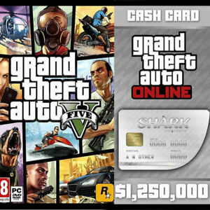 Grand Theft Auto GTA V 5 + Great White Shark Card Bundle (PC) Rockstar Club KEY