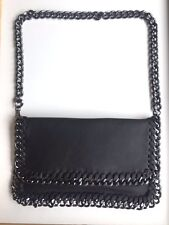 SALE Malissa J Black Hand Bag with black chain edging and handle