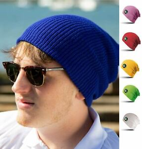 slouch beanie hat mens oversized ladies hats black Red Fluoresent Baggy RC031X
