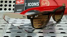 New Ray Ban RB2132 618185 NEW WAYFARER Sunglasses Matte Tort w/ Bronze Fade