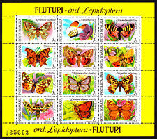 Romania 1991 Mint MNH Butterflies and Moths B Souvenir Sheet