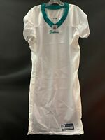 MIAMI DOLPHINS GAME USED REEBOK BLANK ON FIELD WHITE  JERSEY SIZE 44 YEAR 2011