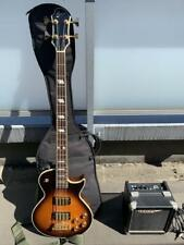 Used Greco Unknown Model MIJ Electric Bass W/GB&Amp Free International Shipping