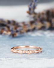 14k Rose Gold Round Diamond Wedding Band Women Engagement Ring !!