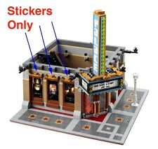 Custom stickers for LEGO 10232 Cinema Theater Modular building sticker LOTR