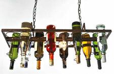 Loft Retro Hanging Wine Bottle Metal Pendant Lamps Island Bar Restaurant Light