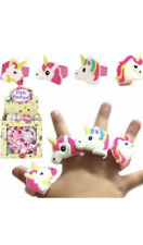 6 x  Unicorn Rubber Rings - Pinata Toy Loot/Party Bag Fillers Wedding/Kids