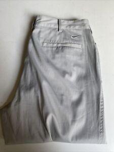 Mens Nike Golf Designer Grey Trousers 32W 32L