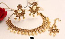 Indian Traditional Necklace Jewelry Set Bollywood Polki Kundan Choker Fashion