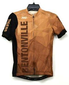 Podiumwear Mens Bentonville Tigers Bottle Back Pockets Full Zip Cycling Jersey S