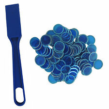 Blue Magnetic Bingo Wand and 100 Chips