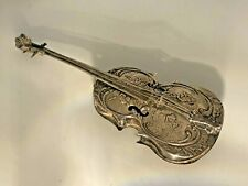 More details for dutch embossed silver coloured white metal cello ornament hallmarks novelty rare