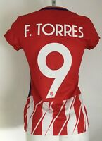 ATLETICO MADRID 2017 18 HOME SHIRT TORRES 9 BY NIKE LADIES SMALL THIN  LETTERING 16b1babd3b4d5