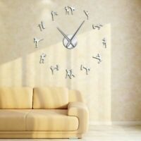 Wall Clock Stickers Home Watch Decorations Taekwondo Patterned Clocks Quartz New
