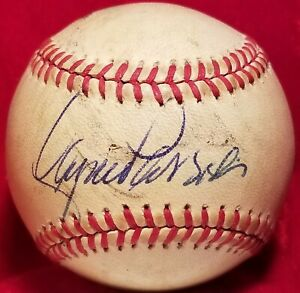 1980s LANCE PARRISH Signed OAL Ball vtg Detroit Tigers Team Auto 8x All Star